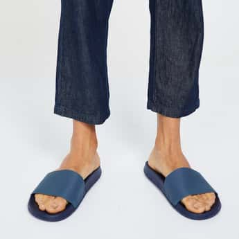 FORCA Textured Slip-On Sandals
