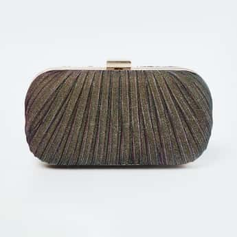 CODE Textured Clutch with Sling