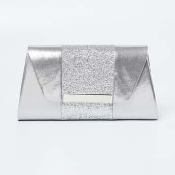 CODE Shimmery Envelope Clutch