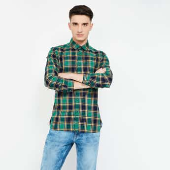 UCLA Checked Slim Fit Casual Shirt