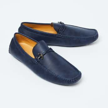 CODE Textured Bit Loafers