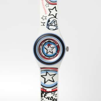 ZOOP Captain America Print Analog Watch- C4048PP28