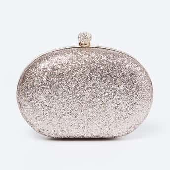 CODE Embellished Clutch with Sling