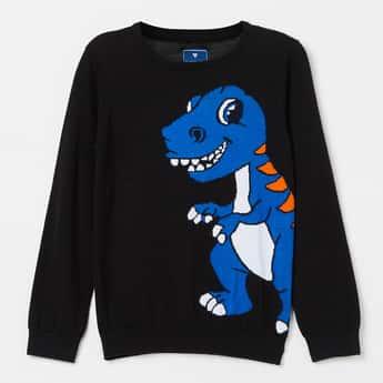 FAME FOREVER KIDS Dinosaur Jacquard Sweater
