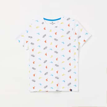 FAME FOREVER KIDS Printed Crew Neck T-shirt