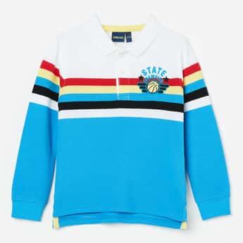 JUNIORS Striped Polo T-shirt
