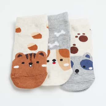 FAME FOREVER Patterned Ankle-Length Socks - Pack of 3 Pairs