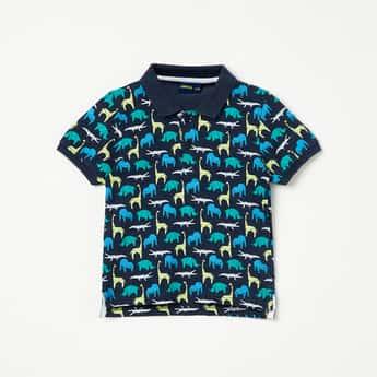 JUNIORS Printed Polo T-shirt