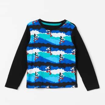 JUNIORS Mickey Print Full Sleeves T-shirt