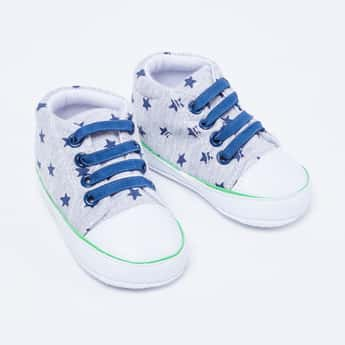 FAME FOREVER Star Print High-Top Casual Shoes