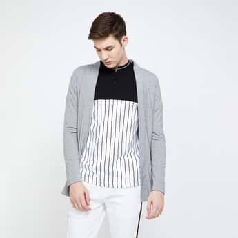 FORCA Solid Open-Front Cardigan