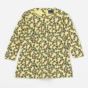 JUNIORS Printed A-line Dress