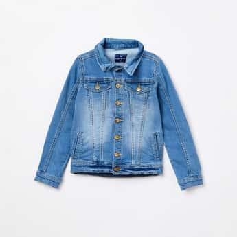 FAME FOREVER KIDS Stonewashed Denim Jacket