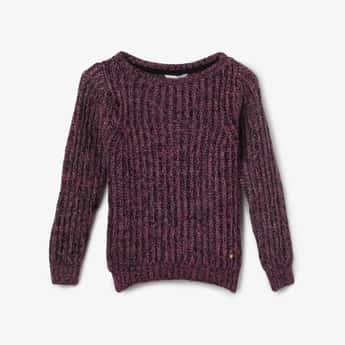 BOSSINI Herringbone Pattern Knit Sweater