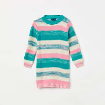 JUNIORS Colourblocked Flat-Knit Sweater