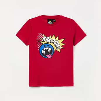 SMILEY Printed Short Sleeves T-shirt