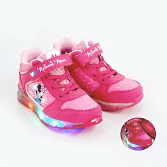 FAME FOREVER Minnie Mouse Print Light Up Casual Shoes