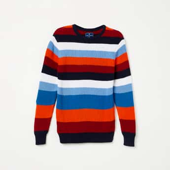 FAME FOREVER YOUNG Textured Full Sleeves Sweater