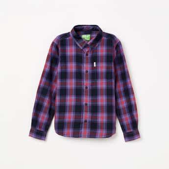 BOSSINI Checked Full Sleeves Shirt