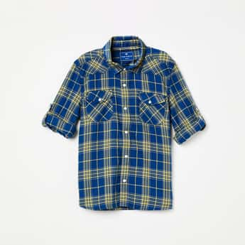 FAME FOREVER YOUNG Checked Full Sleeves Shirt