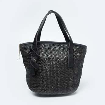 TONIQ Patterned Weave Tote Bag