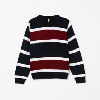 GINI & JONY Textured Full Sleeves Sweater
