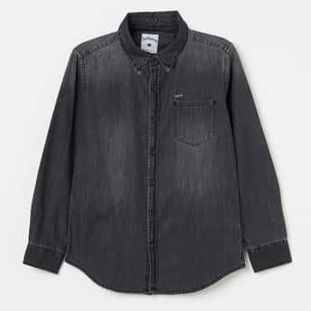 LEE COOPER JUNIORS Back Printed Full Sleeves Shirt