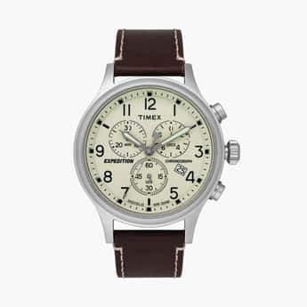 TIMEX Men Chronograph Watch with Leather Strap - TWEG18200