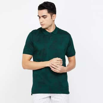 CODE Printed Regular Fit Polo T-shirt