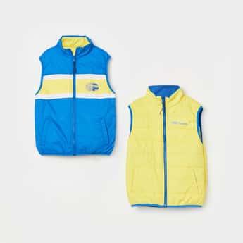PEPE JEANS Colourblocked Reversible Zip-Closure Jacket