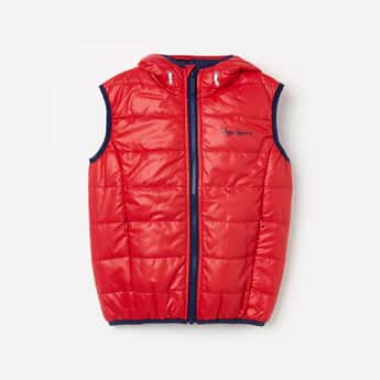 PEPE JEANS Solid Quilted Hooded Jacket