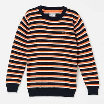PEPE JEANS Striped Full Sleeves Sweater