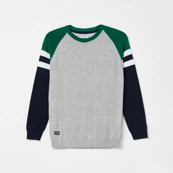 PEPE JEANS Colourblock Raglan Sleeves Sweater