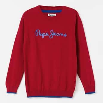 PEPE JEANS Printed Full Sleeves Sweater