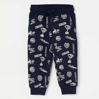 U.S. POLO ASSN. KIDS Printed Joggers with Elasticated Waist