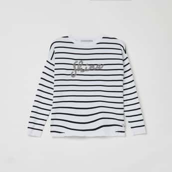 PEPE JEANS Striped Round Neck Sweater