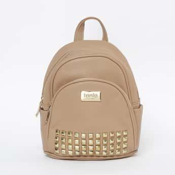 TONIQ Studded Zip-Closure Backpack