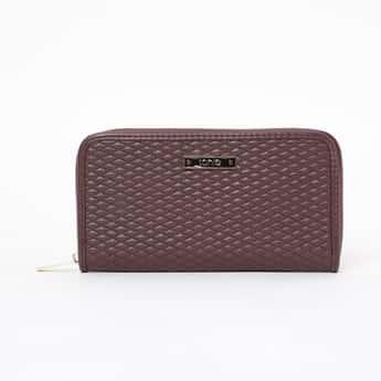 TONIQ Textured Zip-Closure Wallet