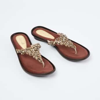 CATWALK Embellished Thong-Strap Flats