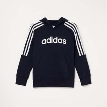 ADIDAS Typographic Print Hooded Sweatshirt