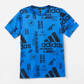 ADIDAS Typographic Print Short Sleeves T-shirt