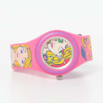 ZOOP Girls Rapunzel Print Wristwatch