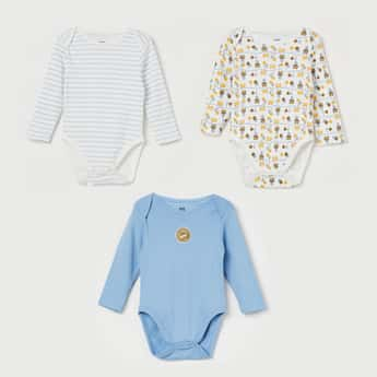 FS MINI KLUB Printed Rompers - Set of 3