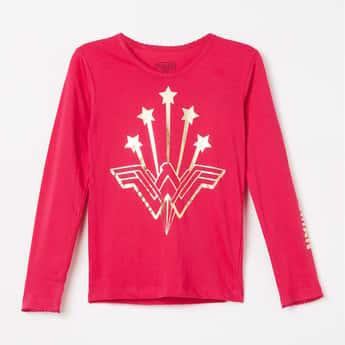 KIDSVILLE Wonder Woman Print Full Sleeves T-shirt