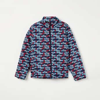 UNITED COLORS OF BENETTON Typographic Print Jacket