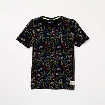 INDIAN TERRAIN Printed Crew Neck T-shirt