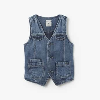 LEE COOPER JUNIORS Sleeveless Denim Jacket