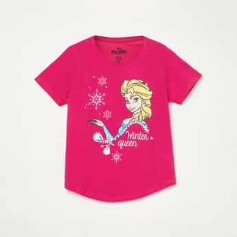 FAME FOREVER YOUNG Frozen Print Short Sleeves T-shirt
