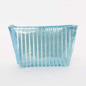 GINGER Striped Semi-Transparent Pouch