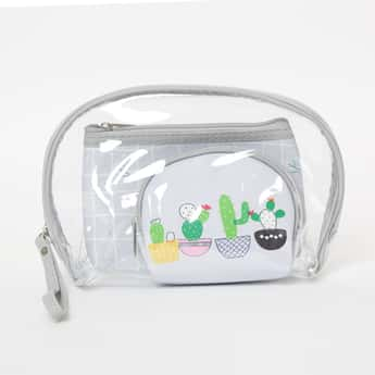 GINGER Printed Transparent Pouches - Set of 3 Pcs.